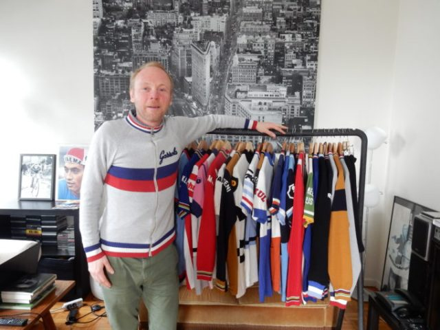 Diederik pictured with his kit