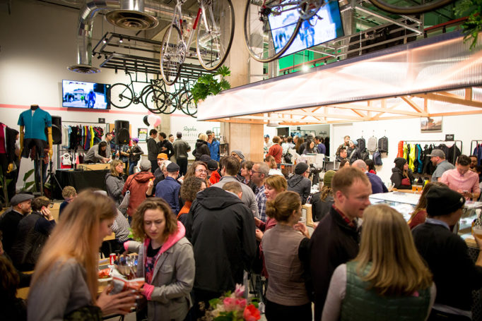 Opening time at the Rapha Seattle Clubhouse