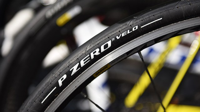Images of the PZero Velo tyres are very rare
