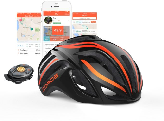 The Coros LINX Smart cycling helmet
