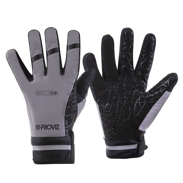 The Proviz Reflect 360 Gloves are covered in reflective material
