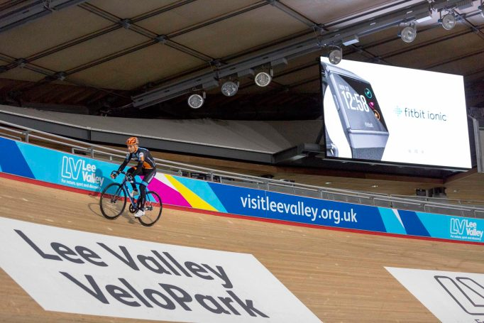 I got to try out the Fitbit Ionic at the London Olympic velodrome