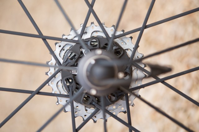 The G3 spoke pattern puts twice as many spokes on the drive side of the rear wheel
