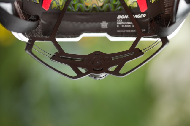 inside view of the back of the Bontrager XXX WavCel road bike helmet.