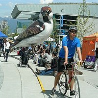 Under the Shadow of Giant Sparrows: Sharing Public Space at Olympic and ParaOlympic Village Open House