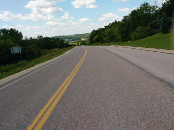 This was the last hill before finishing.