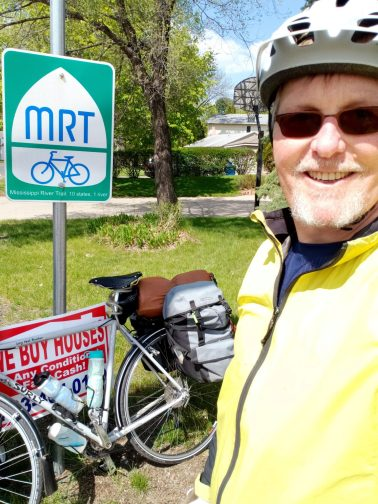 """Found my 1st MRT sign. the small print says """"10 states 1 river."""""""