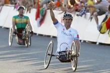 Alex Zanardi won his second gold medal in London 2012 Paralympics.