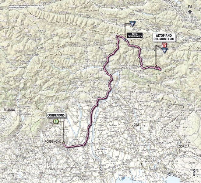 Giro d'Italia 2013 stage 10 map
