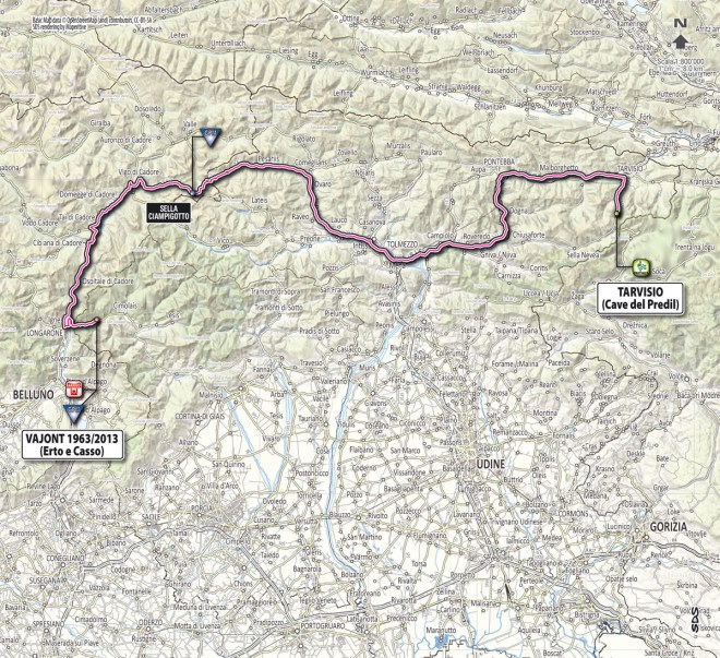 Giro d'Italia 2013 stage 11 map
