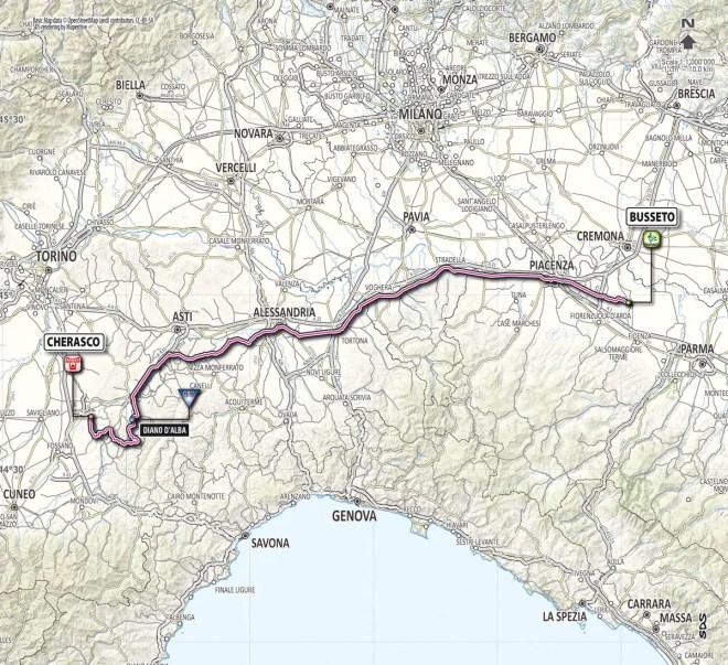 Giro d'Italia 2013 stage 13 map