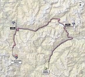Giro d'Italia 2013 stage 15 map