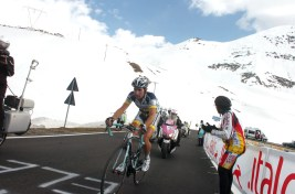 Thomas de Gendt on Passo dello Stelvio climb, Giro d'Italia 2012 stage 20