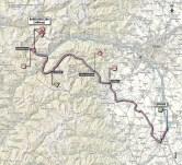Giro d'Italia 2013 stage 14 map