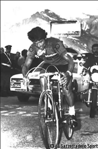 José Manuel Fuente climbing Tre Cime di Lavaredo, 1974