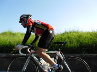 Cycling Tour in Italy, road to Pesaro, Mustafa