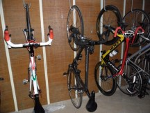 Cycling Tour in Italy, bike garage of the hotel