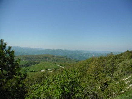 Cycling Tour in Italy, 2nd day, the beautiful view from near the summit