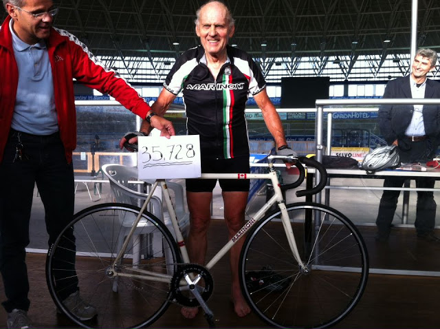 Giuseppe Marinoni broke the hour record