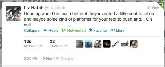 Liz Hatch's tweet