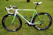 """Peter Sagan's Cannondale SuperSix Evo Tour de France 100th special edition """"The Hulk"""", side view"""