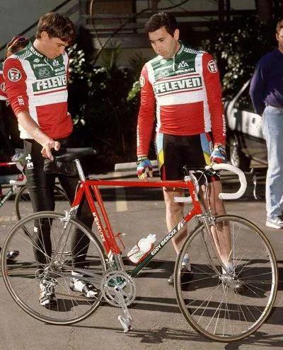 Eddy Merckx with Sean Yates