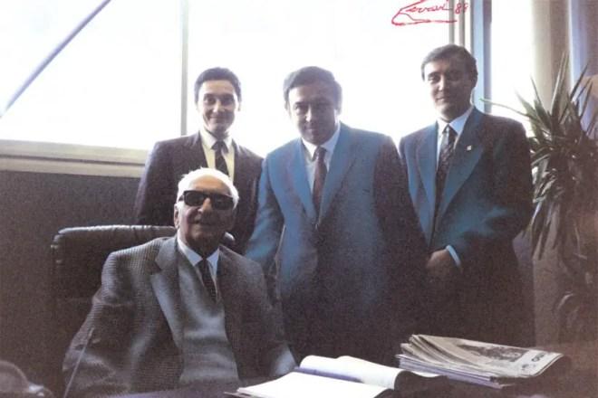 Ernesto Colnago with Enzo Ferrari