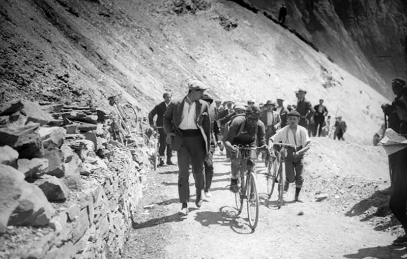 Ottavio Bottecchia climbing Col du Tourmalet, Tour de France 1924