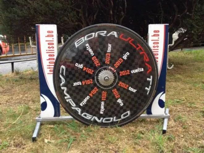 Adam Hansen's special Campagnolo Bora Wheel