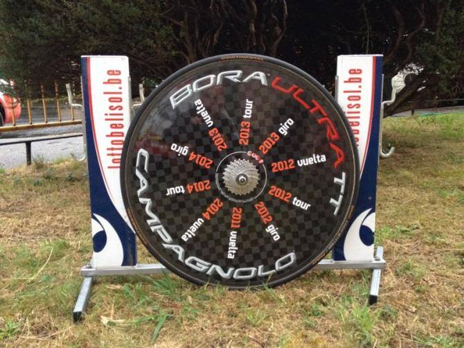 Adam Hansen's Special Campagnolo Bora Wheels