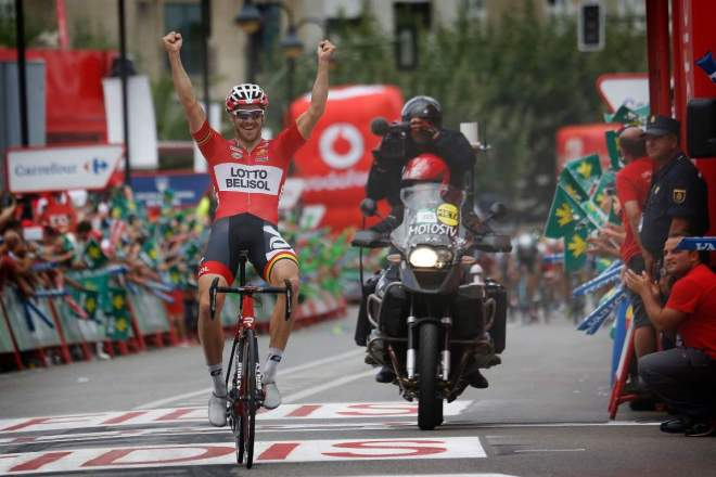 Adam Hansen wins stage 19 of Vuelta a España 2014.