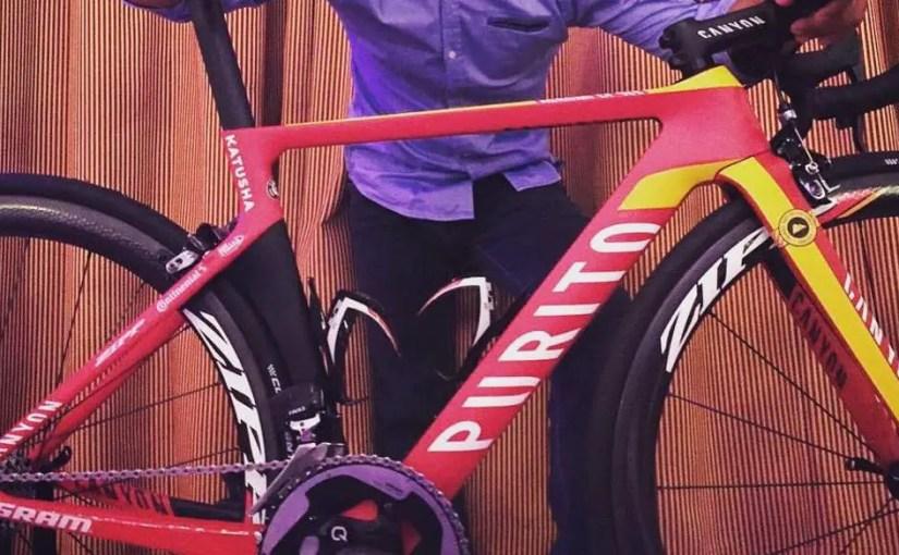 """A special """"Purito"""" Canyon bike for Joaquim Rodríguez"""