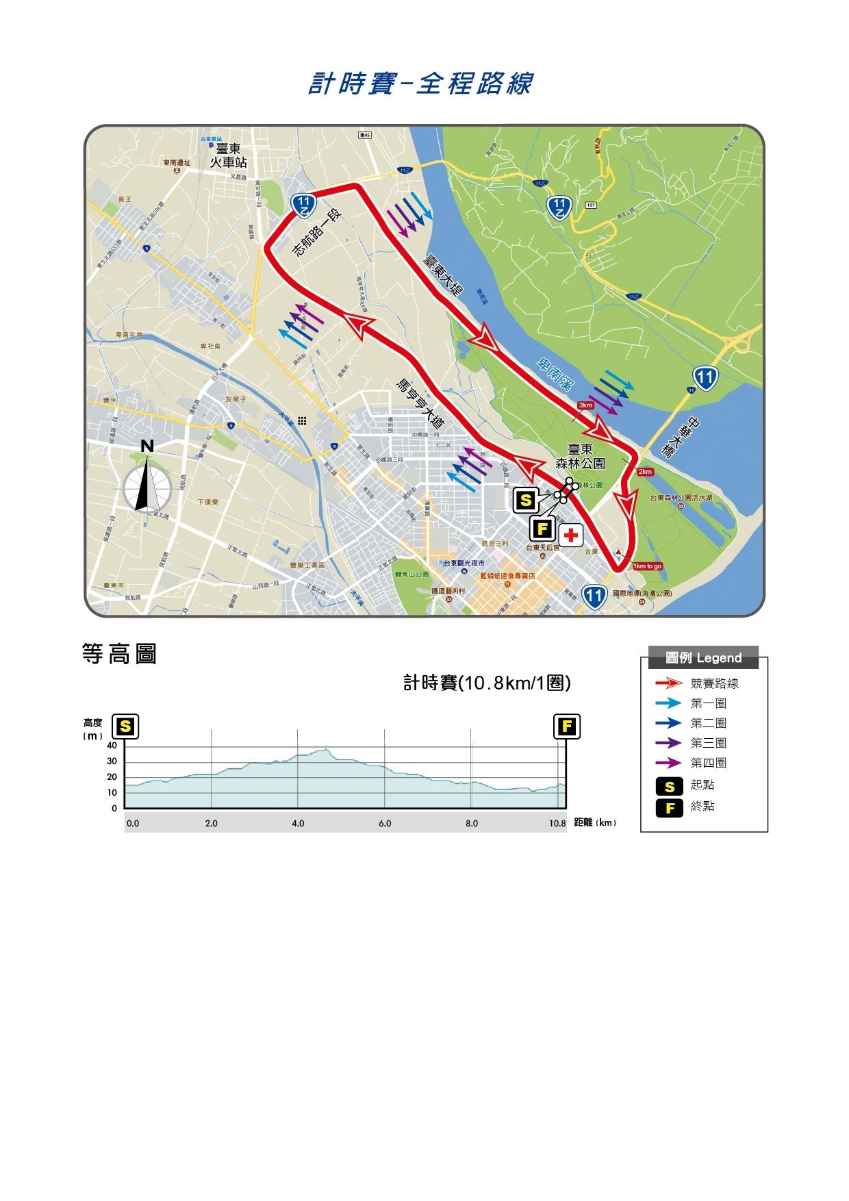 0622臺東公路錦標賽-計時賽路線