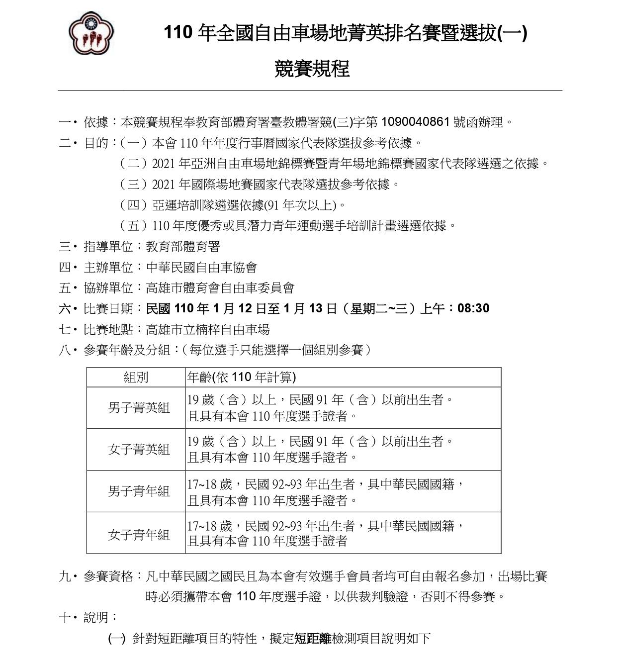 110年全國自由車場地菁英排名賽一競賽規程_page-0001-3