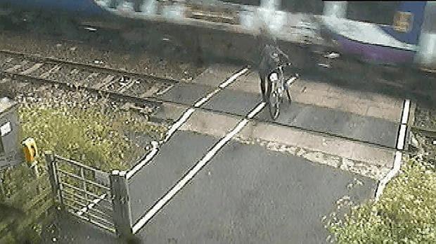Cyclist Near Miss Train