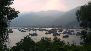 One of dozens of fishing communities I was able to explore on my route to Saigon