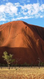 The contrasting colours of Uluru