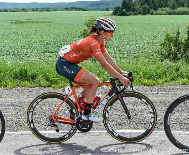 Sara Bergen riding her bike