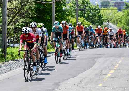 Alex Amiri up front at the 2019 Tour de Beauce