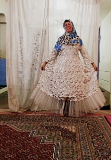 An Iranian wedding dress