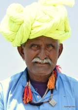 A man on his bicycle in Rajasthan