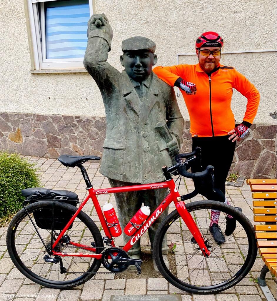 Foto mit dem Ausscheller von Selzen und CyclingOllis Cucuma