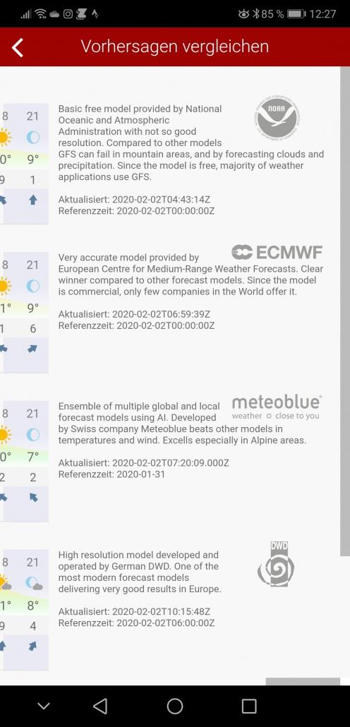 Windy Wetter-App