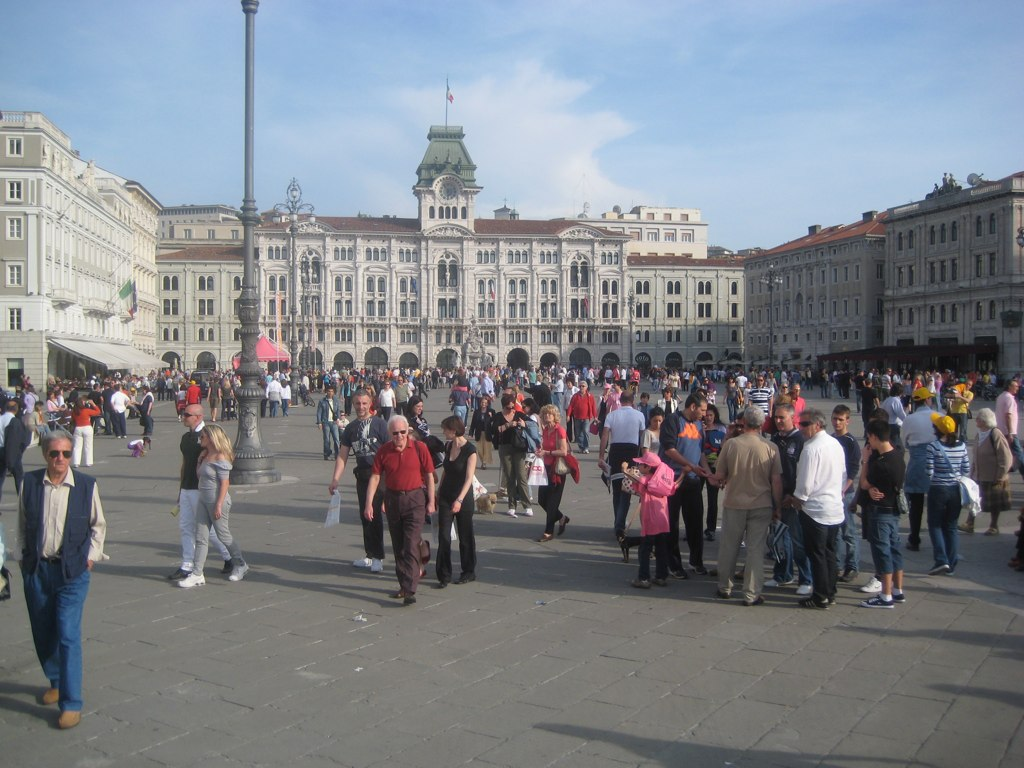 Trieste Piazza after Giro stage 2