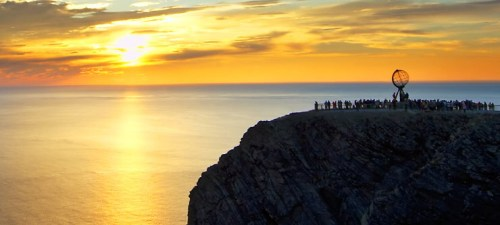 Midnight-sun-at-North-Cape-Norway-740