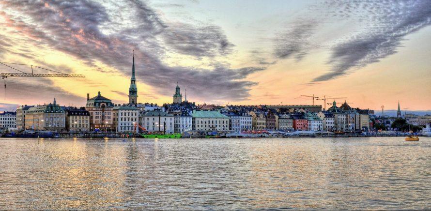 sea city dawn landscape