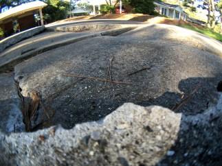 This broken driveway = Stress