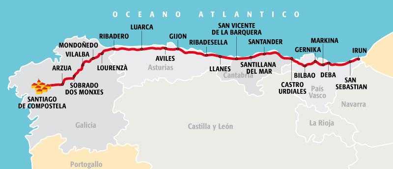 Il viaggio di Andrea: in bicicletta verso Santiago de Compostela lungo il Camino del Norte