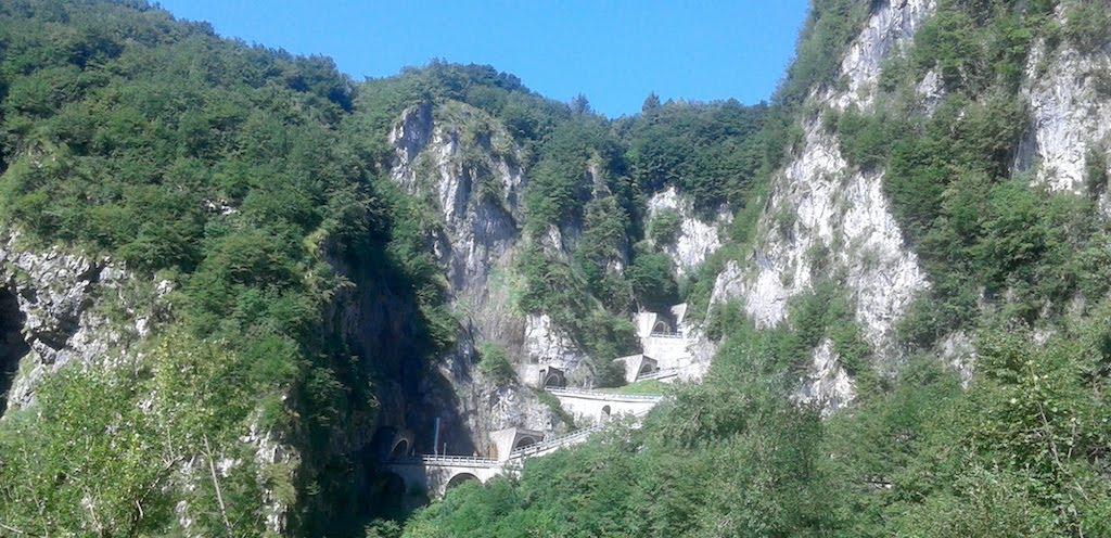 Passo San Boldo in bicicletta: la salita dal versante di Tovena (TV)