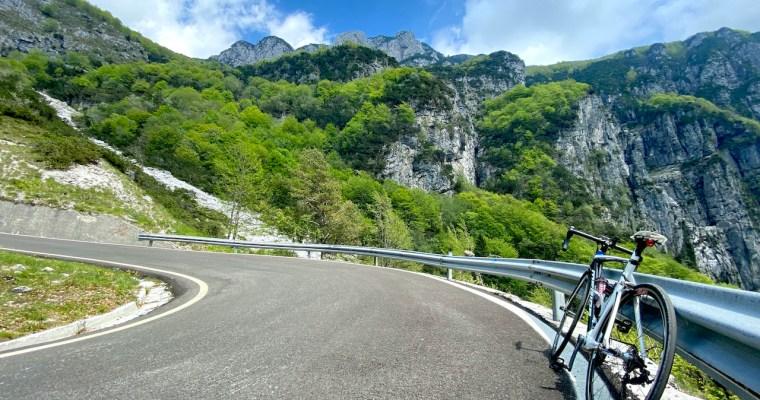 Passo Rest in bicicletta: il versante di Tramonti di Sopra (PN)